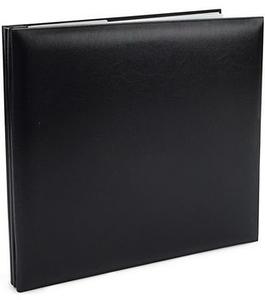 8x8-Black-FauxLeather-Book