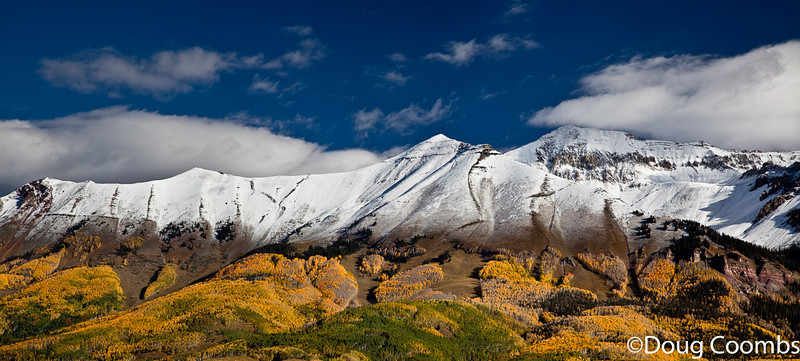 Snow and Gold Panorama