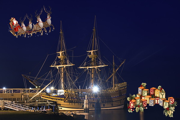 Santa Visiting the Mayflower