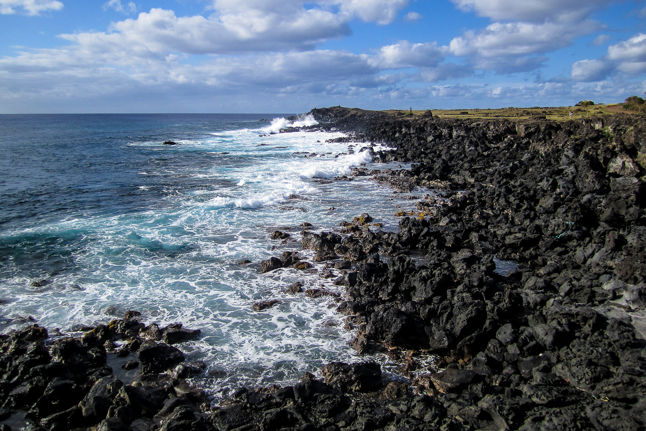 Volcanic Coastline of Easter Island
