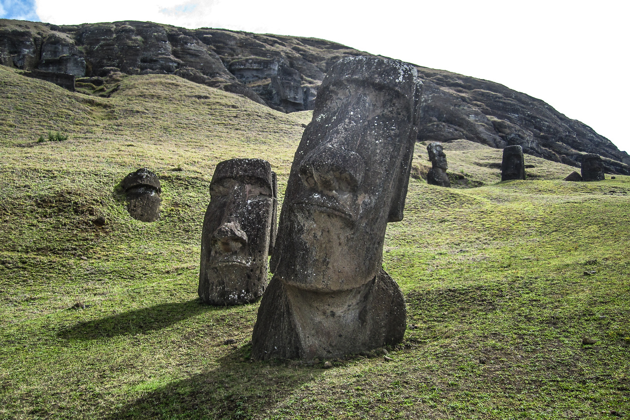 Easter Island faces