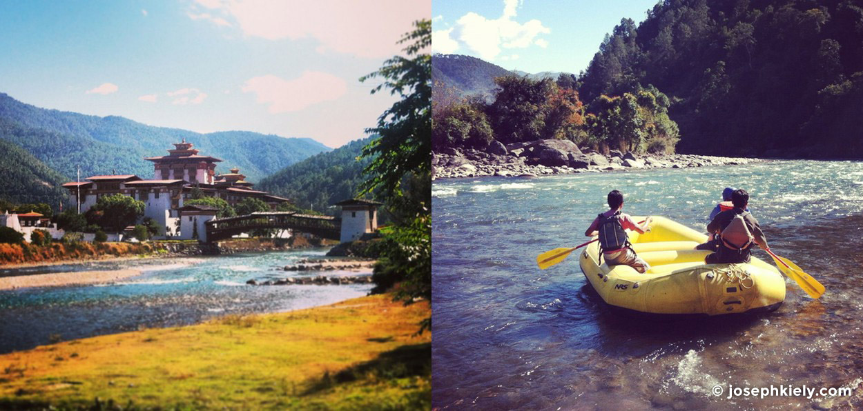 rafting on the Mo Chhu river in Bhutan