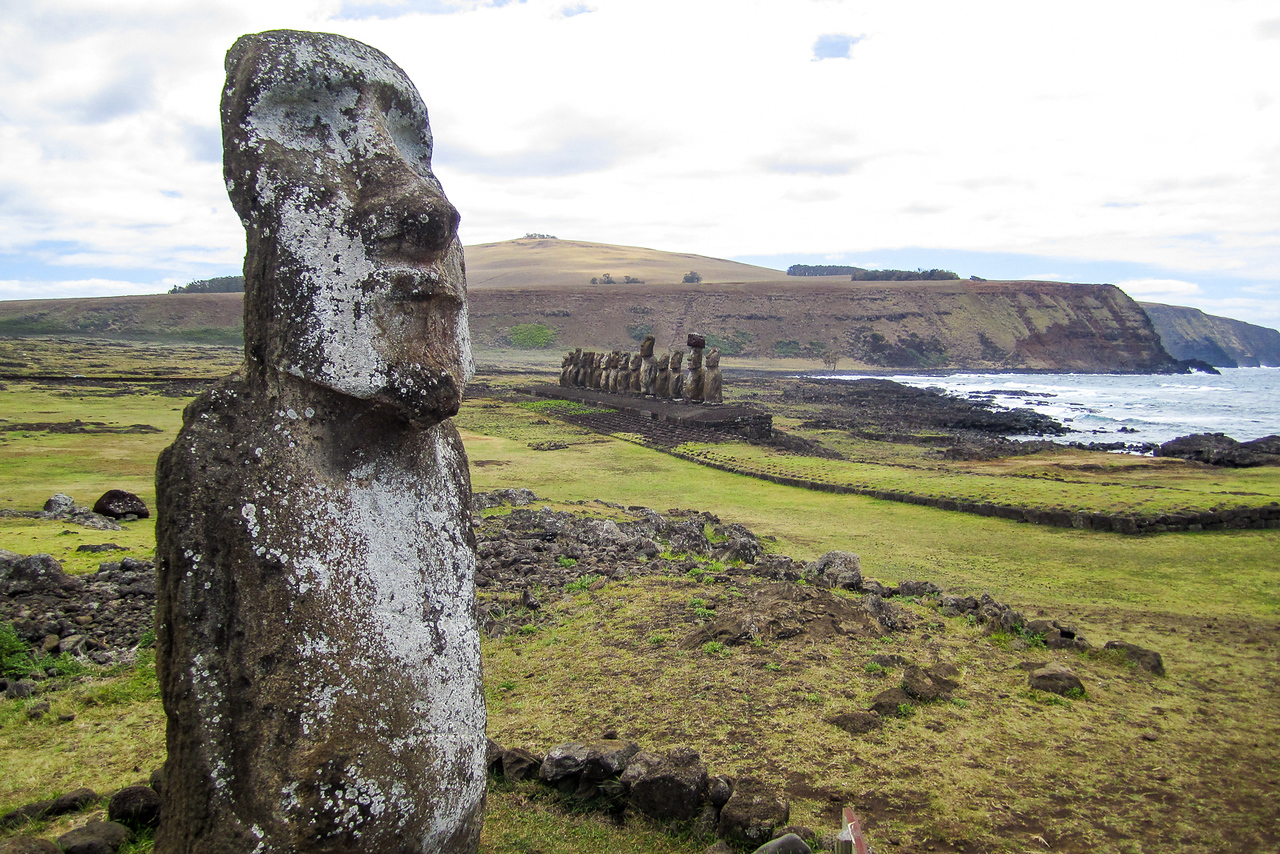 Easter Island Moai at Ahu Tongariki