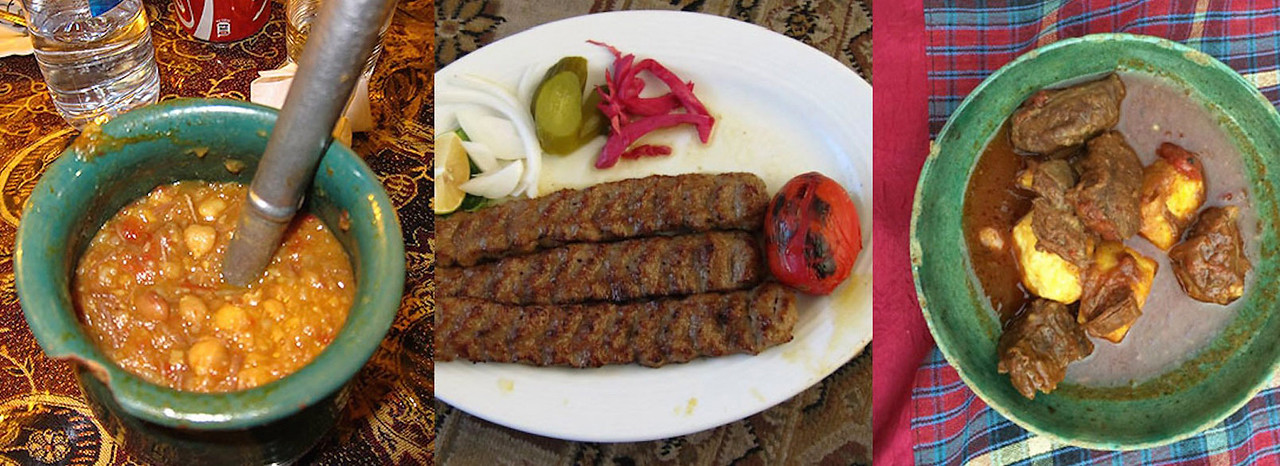 Food from Iran the Dizi, Kebabs and Stews.