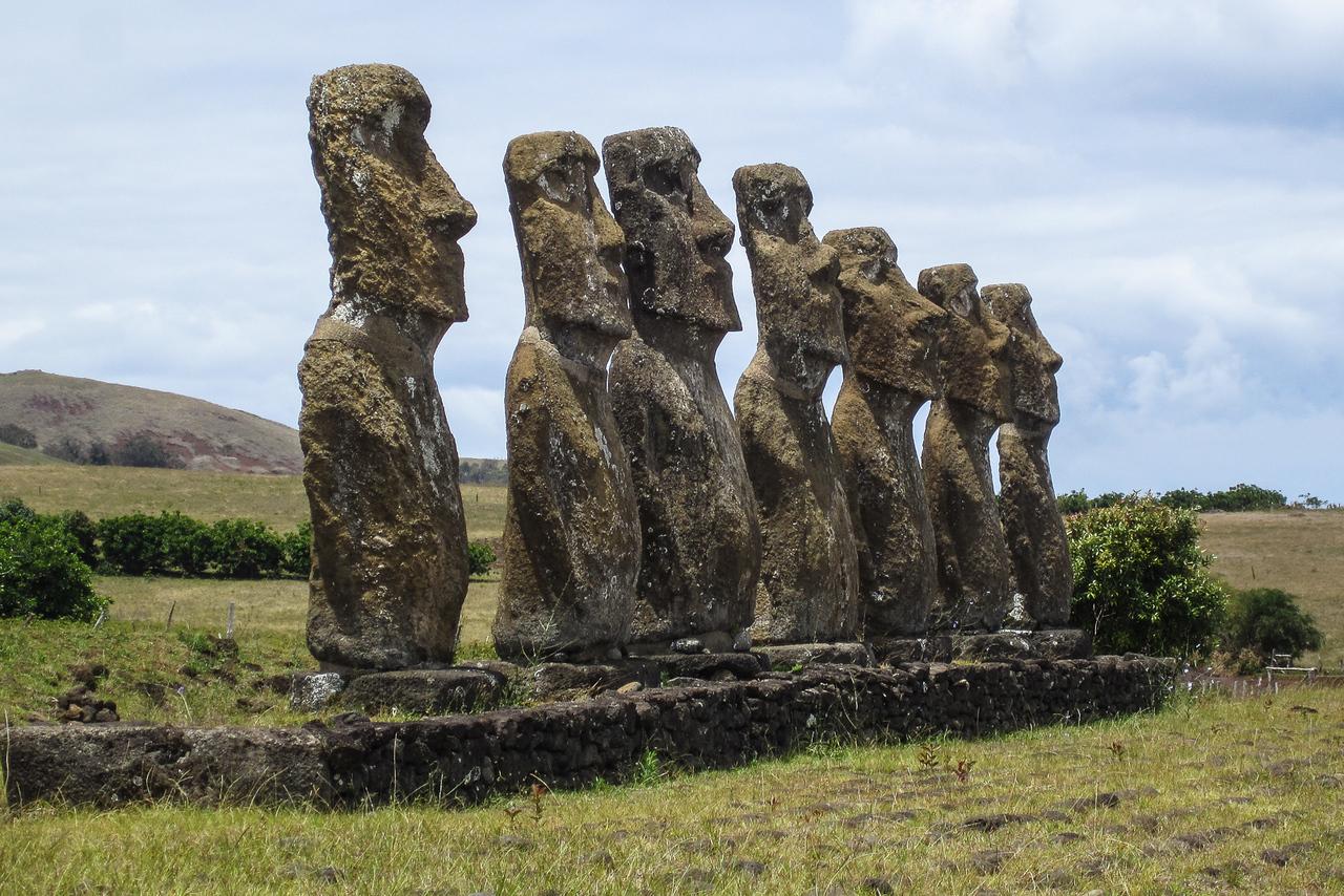 Easter Island Ahu Akivi Moai