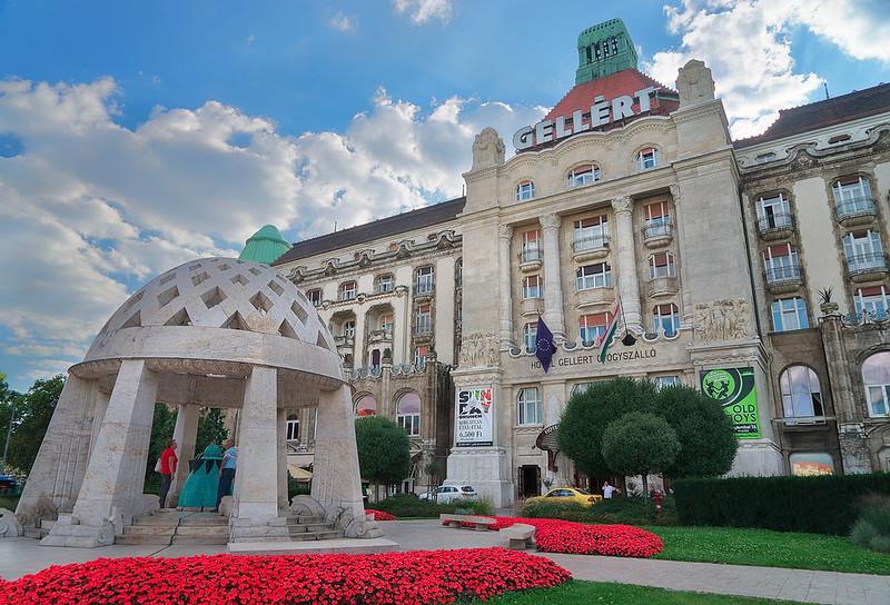 Historic Gellert Hotel in Budapest Hungary