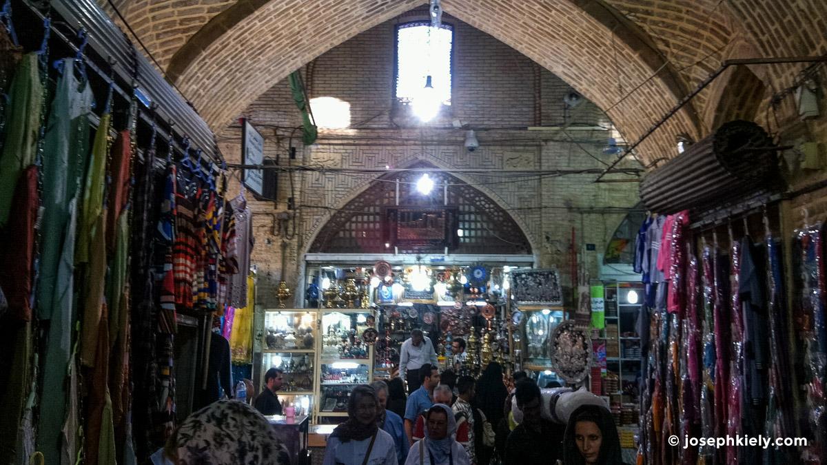 Silver shop in a Bazaar in Isfahan Iran