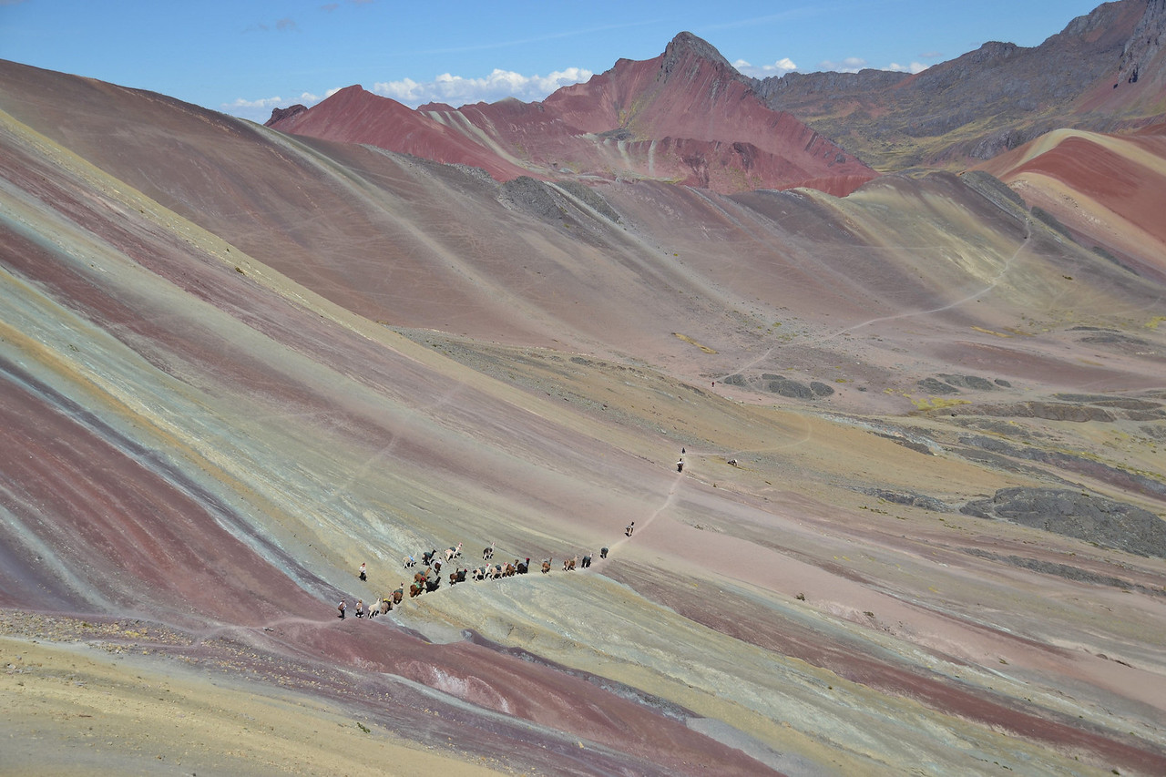 Rainbow Mountain Peru Colours