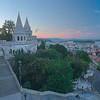 Beautiful Fisherman's Bastion in Budapest Hungary