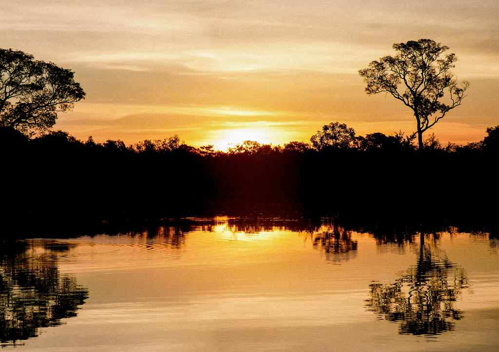 Watching the sky change colors - the perfect end to a day kayaking on the Pantanal