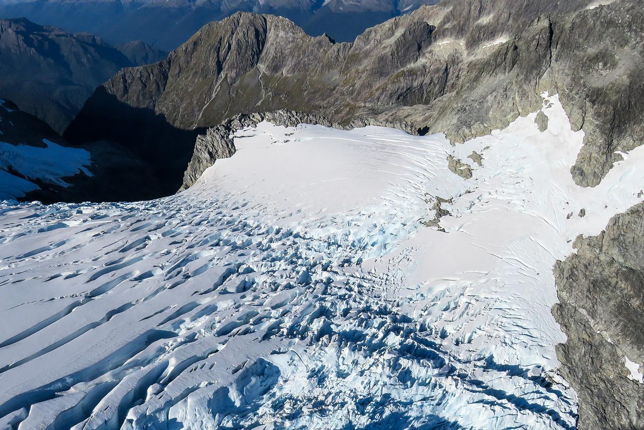 Mount Tutoko Glacier Crevasses