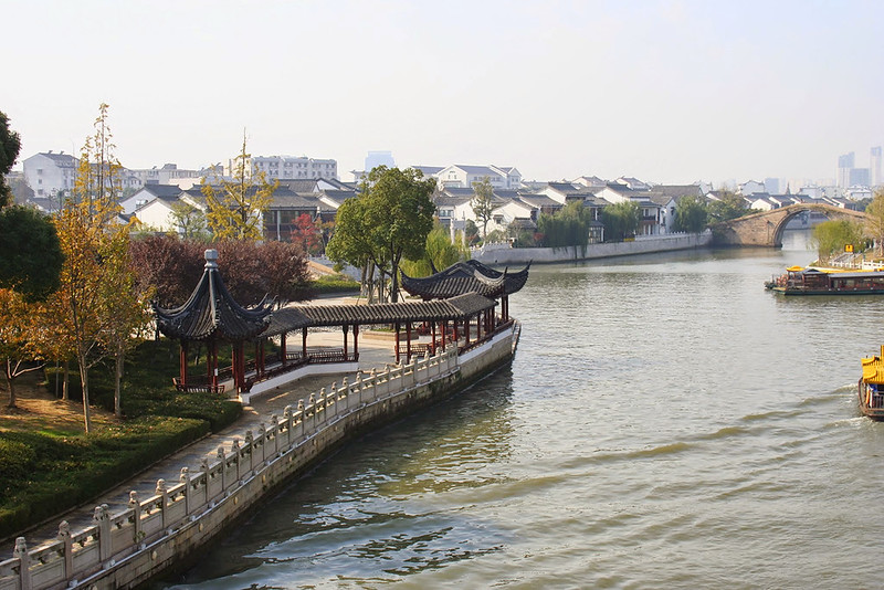 More waterways of Zhouzhuang:  Can stare at this always.