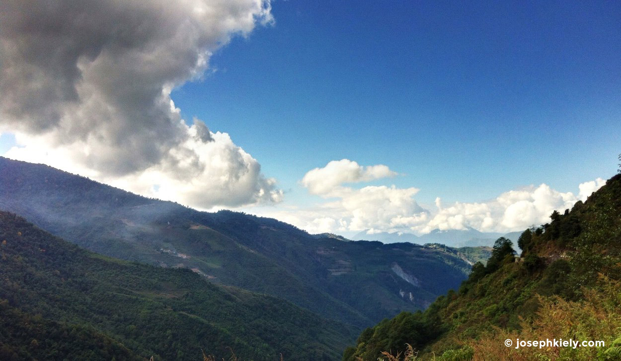 Mountain views outside of Mongar in Bhutan