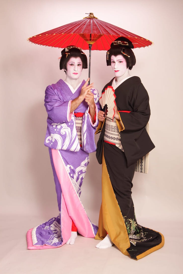 Geisha male transformation in Tokyo, Japan