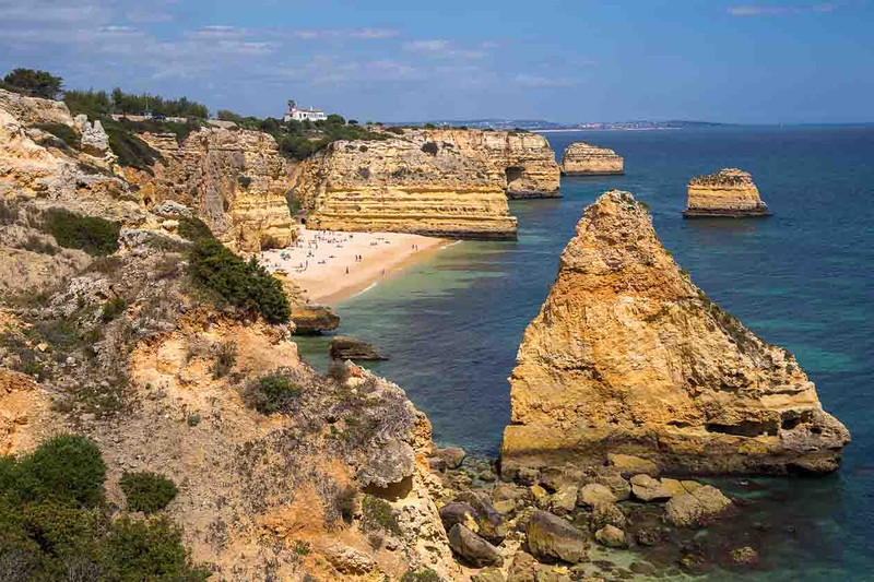 The Algarve coast line near Benagil