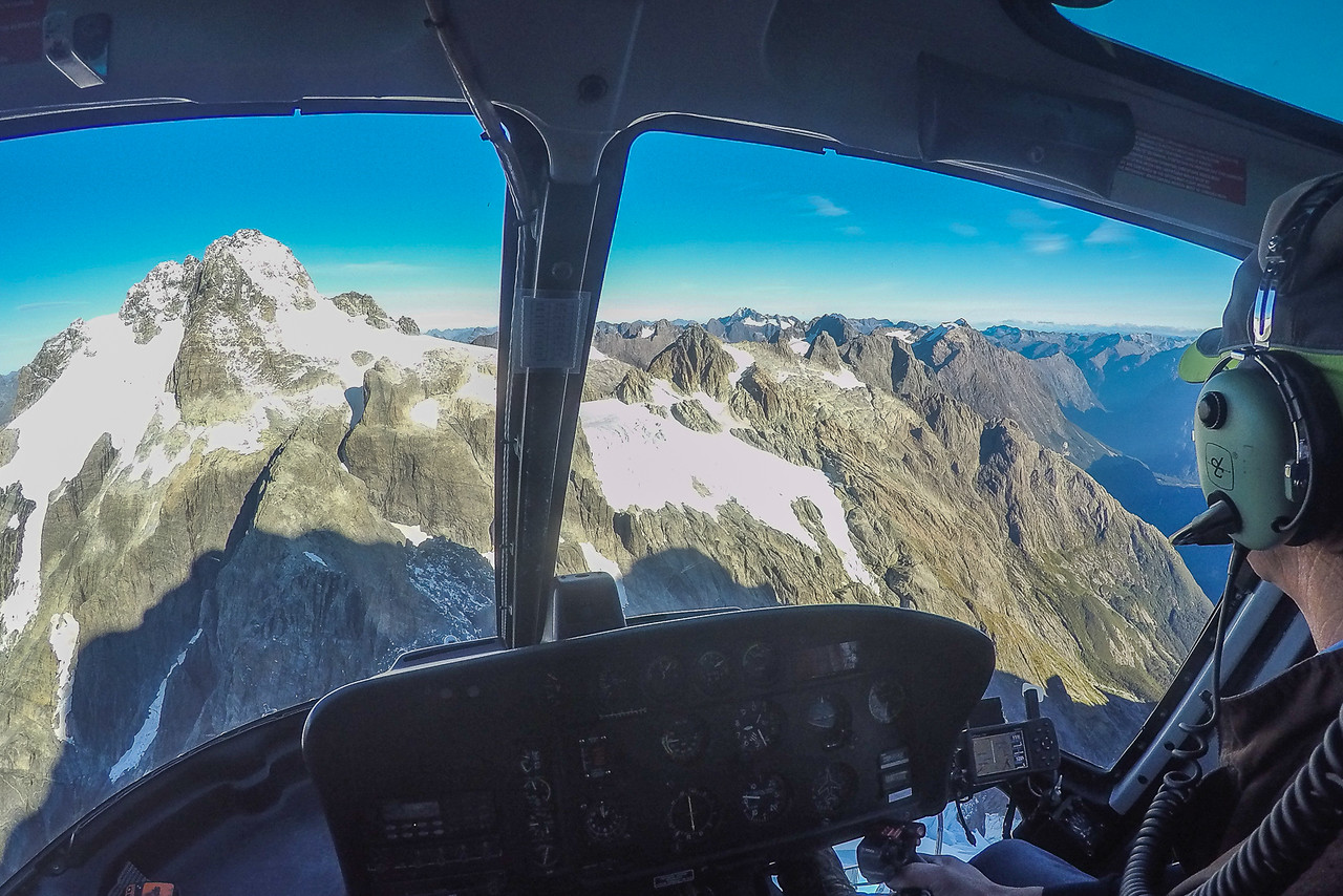 Milford Helicopters flight to Mount Tutoko