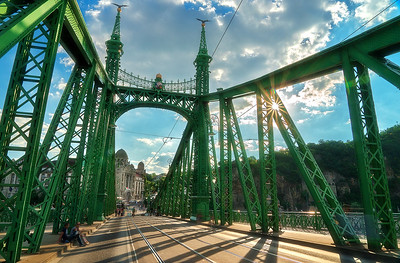 Beautiful Liberty Bridge in Budapest Hungary