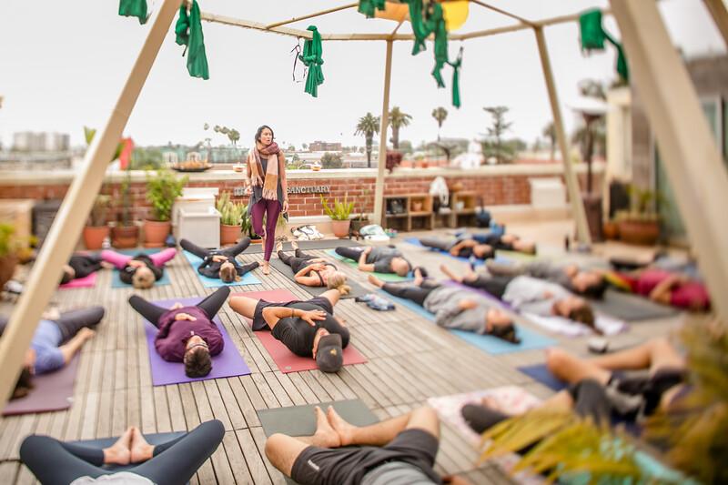 Trilogy Yoga studio with vegan food