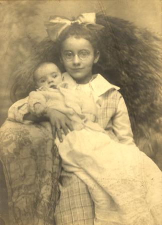 December 11, 1921 Philadelphia, PA  Elizabeth Marie Keating (10 years, 7 months) and Edith Alberta Keating ( 3 months), daughters of Francis E. Keating (brother to Joseph J. Keating) (Courtesy of David R. Keating, Jr.)
