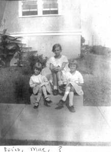 About 1929 Second Avenue, Trooper, PA LEFT TO RIGHT - Doris Mae (Johnson) Gotsch, Marie Agnes (Lukens) Staats and unknown. (Courtesy of Gotsch / Bruton)
