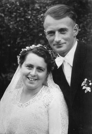 "Undated Neu St. Jurgen, Germany Wedding photo of Gesine ""Sina"" (Kuck) and Johann Kuck, Jr."