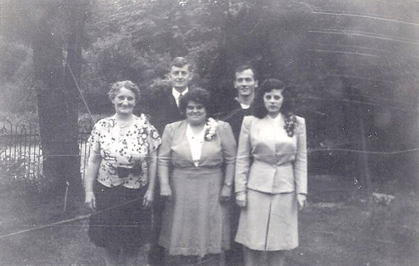 July, 1943 Norristown, PA BACK ROW - Lewis Russell Redfern and George E. Bennett, Jr. FRONT ROW - Ada Bennett (mother of the groom), Ida Veronica (Staley) Redfern and Elizabeth M. (Redfern) Bennett. Ida was the oldest of Mary G. (Lukens) Staley's nine children. Descendents indicate she was the heart and soul of her family. She and her beautiful daughter Elizabeth are as close as we've come to knowing about the mysterious Mary G. Lukens.