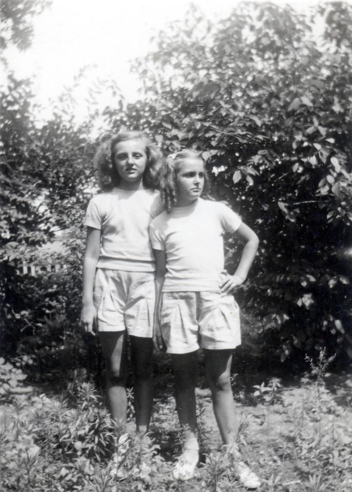 """About 1948 Ann """"Angie"""" Szymanski and Dorothy (Szymanski) Burtson. (Courtesy of Sharon Goralski)"""