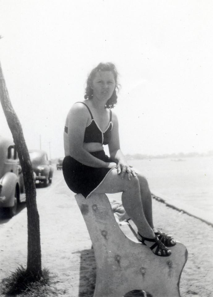 July, 1948 Seaside Heights, NJ Lottie (Krulikowski) Szymanski. (Courtesy of Sharon Goralski)