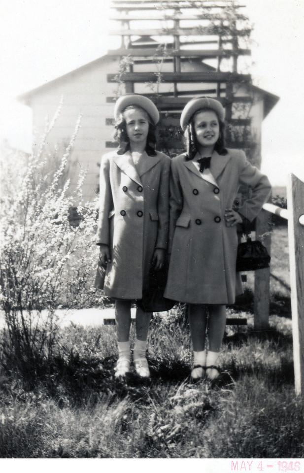 1948 Sally (Kusek) Hurley and Dorothy (Szymanski) Burtson. (Courtesy of Sharon Goralski)