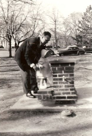 1948 John Kusek with Loretta Kusek. (Courtesy of Sharon Goralski)