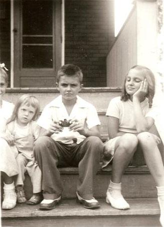 About 1950 Sally (Kusek) Hurley, unknown girl, John Joseph Szymanski, Jr. and Dorothy (Szymanski) Burtson. (Courtesy of Sharon Goralski)