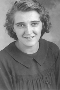 Undated Anna Alt (b.1917 - d.1998), wife of William W. Crosely (b.1919 - d.1991) who was the son of Lucy (Keating) Crosley.