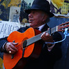An animated performer busking on the street - Buenos Aires, Argentina.