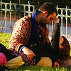 Lovers sharing a romantic moments at a quiet park - Buenos Aires, Argentina.