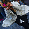 A performance artist strutting his stuff at the Sunday market - Buenos Aires, Argentina.