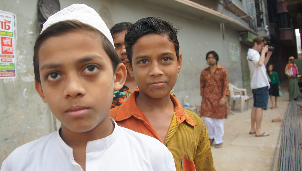 While wandering the streets of Old Dhaka I often had a small following of curious children and adults.