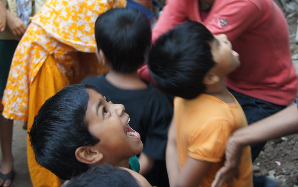 I was invited into the backyard of Bangladeshi family where children were engaging in some fun and interactive games.