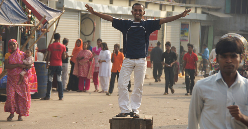 This Bangladeshi man was seriously thrilled to have his photo taken.