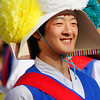 "<a href=""http://nomadicsamuel.com"">http://nomadicsamuel.com</a> : A smiling Korean performer delights the onlooking crowd with his spectacular acrobatics in a traditional performance at the Korean Folk Village in Yongin - South Korea."