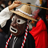 "<a href=""http://nomadicsamuel.com"">http://nomadicsamuel.com</a> : A traditional Korean performer wearing a folk mask performs slow, deliberate movements just outside of Gyeongbokgung Palace - Seoul, South Korea."