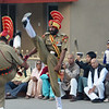 These Indian guards perform a Monty Python-esque like ritual to close the border daily between India & Pakistan - Wagah, India.