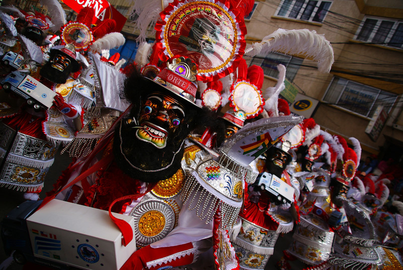These performers had some of most elaborate and bizarre costumes during the Fiesta del Gran Poder - La Paz, Bolivia.