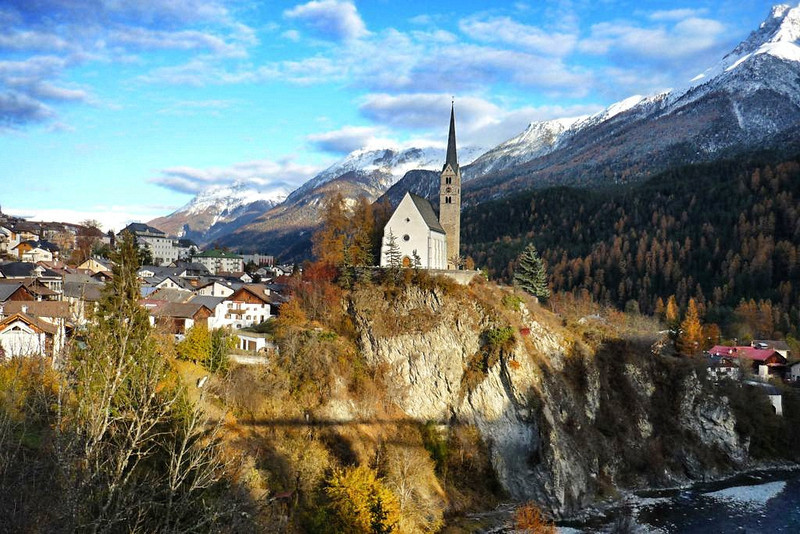 Stunning views from Scuol