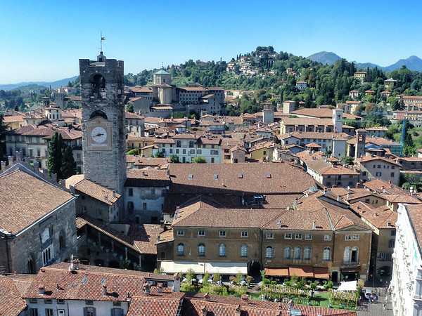 Scenic town views from Begamo