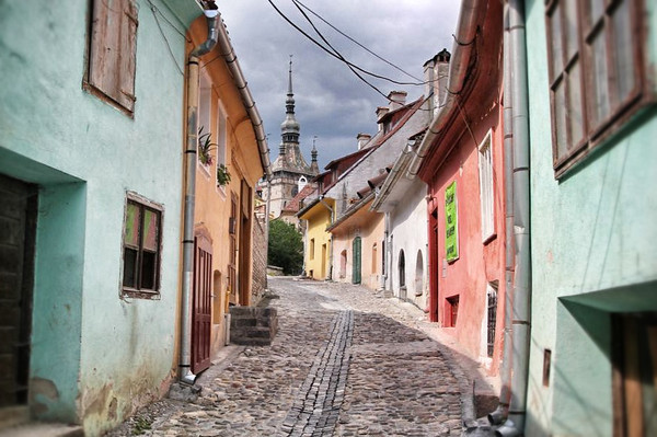 Street scene from Sighisoara