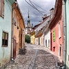 Street scene from Sighisoara