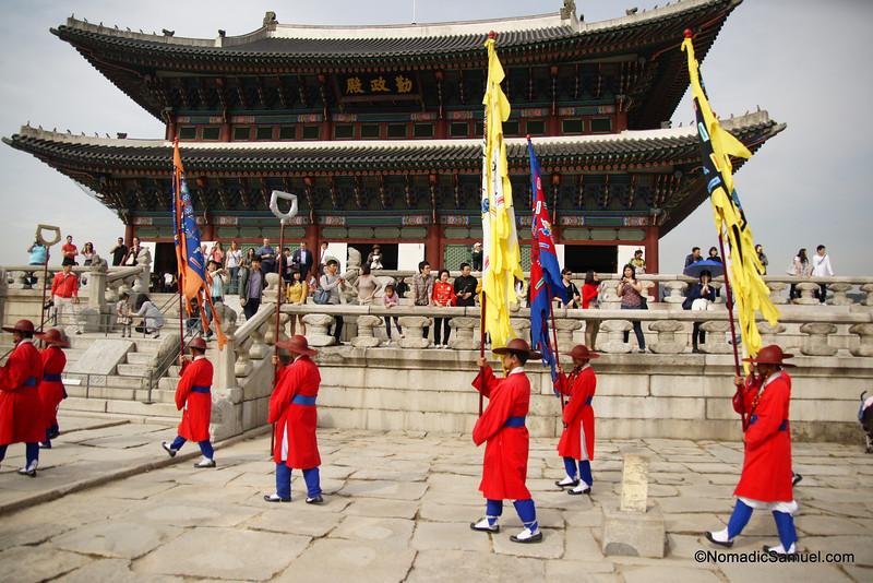 Changing of Guard - Gyeongbokgung, Seoul, South Korea