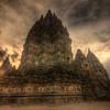 Prambanan temple sunset Indonesia