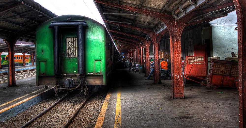 Train station in Jakarta, Indonesia
