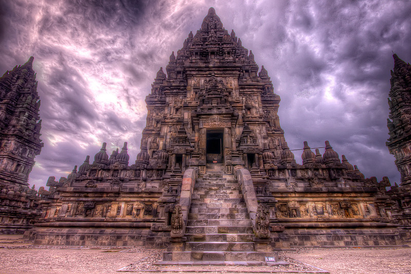 Prambanan temple located in Indonesia